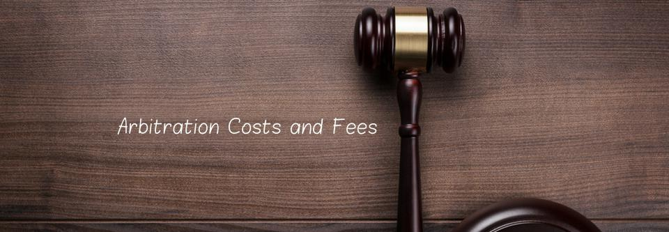 Arbitration costs and fees-CODAC