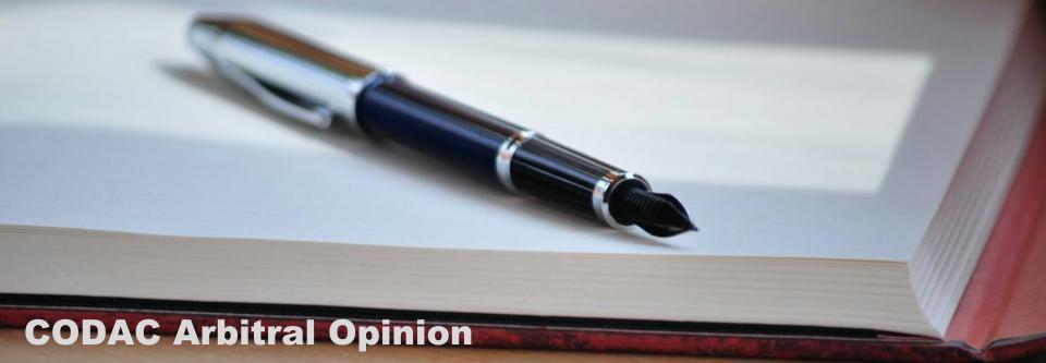 Arbitral Opinion-CODAC